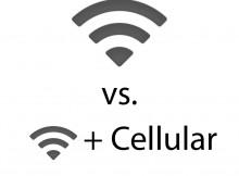 iPad Wi-Fi versus iPad Wi-Fi plus Cellular