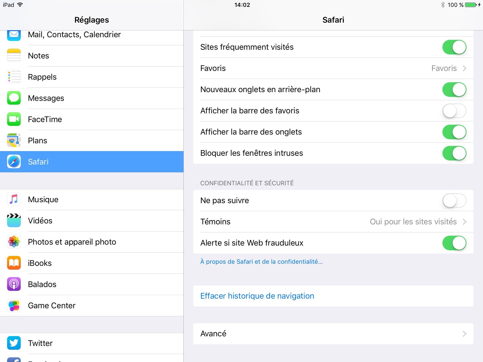 Étapes pour vider le cache sur votre iPad
