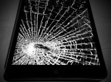 Écran ou vitre brisée, cassée, iPad