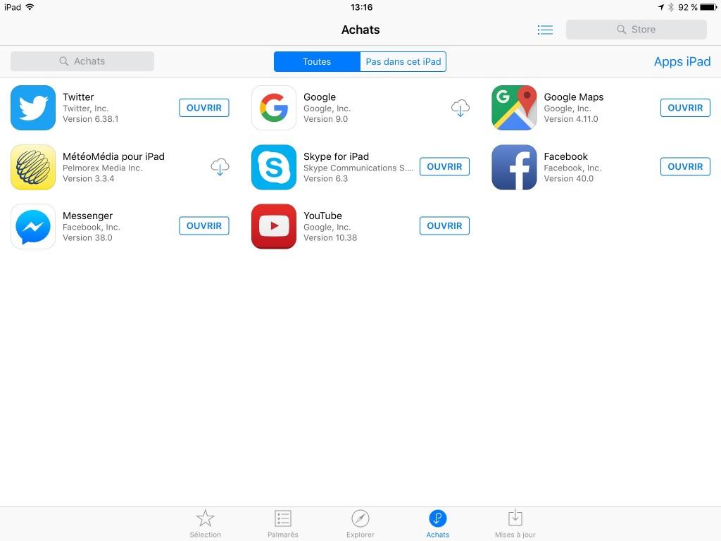 Retrouver vos achats - App Store - 3