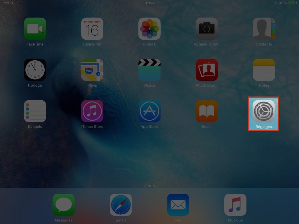 Réglages - iCloud - Configuration