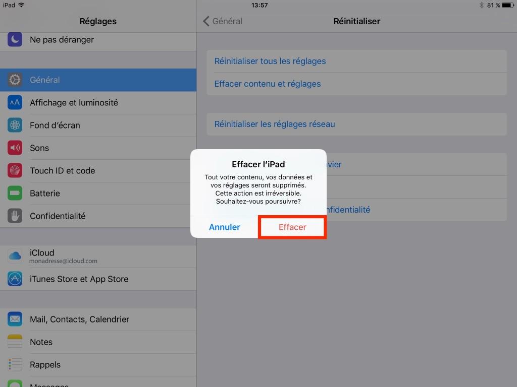 Copie sauvegarde - Backup - Effacer données - iCloud - Ptit Pepin