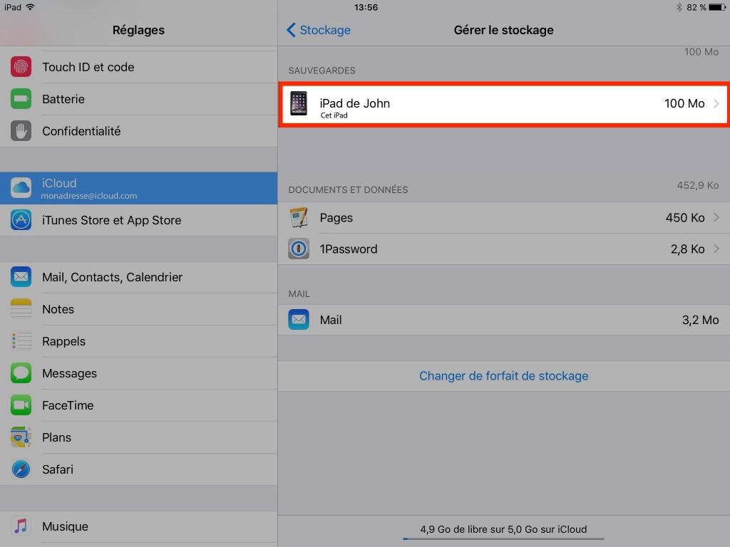 Gestion manuelle stockage iCloud - Ptit Pepin