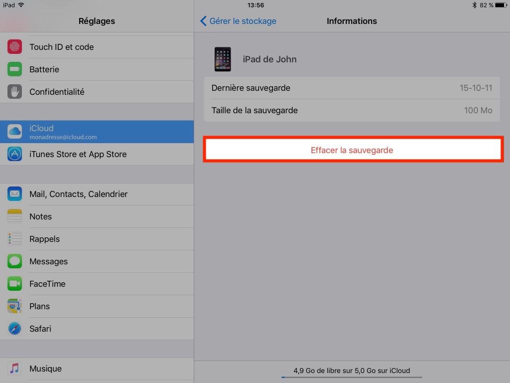Supprimer sauvegarde - backup - iPad et iPhone - Ptit Pepin - P'tit Pépin - iCloud
