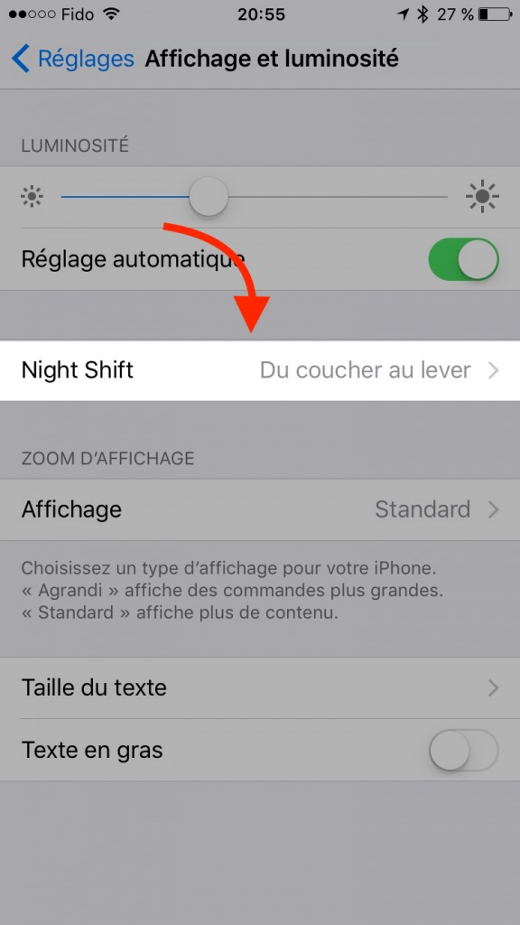iOS 9.3 - P'tit Pepin - iPad - iPhone - Night Shift